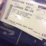 Cartão de embarque GRU - EZE