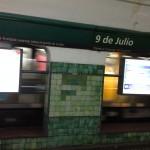 Estação de metrô 9 de Julio